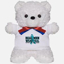 Real Men Wear Teal PCOS Teddy Bear