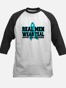 Real Men Wear Teal PCOS Kids Baseball Jersey