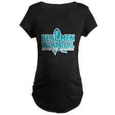 Real Men Wear Teal PCOS T-Shirt
