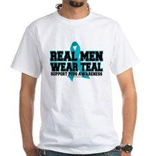 Real Men Wear Teal PCOS Shirt