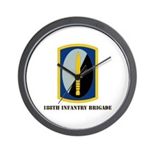 SSI-188th Infantry Brigade with text Wall Clock