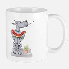 Great Dane Spit! Melon BLUE Mug