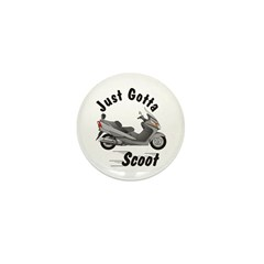Just Gotta Scoot Burgman Mini Button (10 pack)