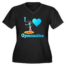I Love Gymnastics #3 Women's Plus Size V-Neck Dark