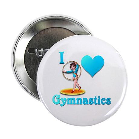 "I Love Gymnastics #3 2.25"" Button"