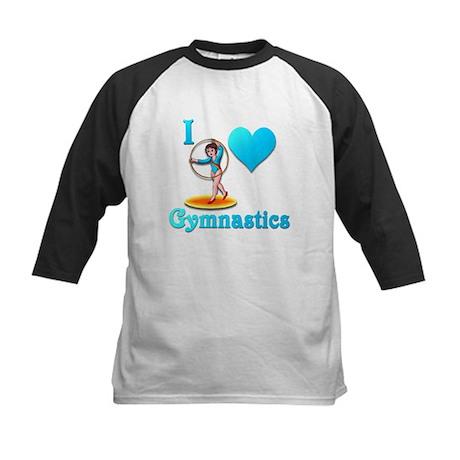 I Love Gymnastics #3 Kids Baseball Jersey