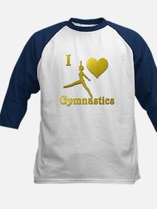 I Love Gymnastics #5 Kids Baseball Jersey