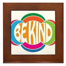 Be Kind Framed Tile