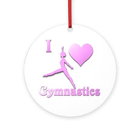I Love Gymnastics #6 Ornament (Round)