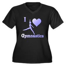 I Love Gymnastics #7 Women's Plus Size V-Neck Dark