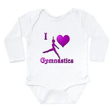 I Love Gymnastics #8 Long Sleeve Infant Bodysuit