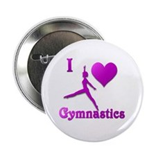 "I Love Gymnastics #8 2.25"" Button"