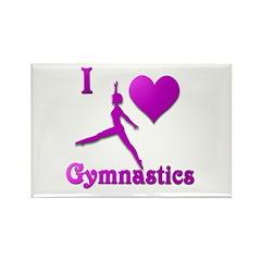 I Love Gymnastics #8 Rectangle Magnet (10 pack)