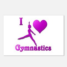 I Love Gymnastics #8 Postcards (Package of 8)