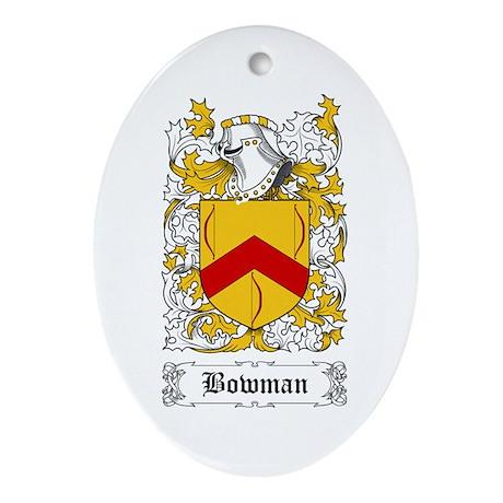 Bowman I [English] Ornament (Oval)