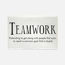 Teamwork: People Suck Rectangle Magnet