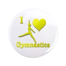 "I Love Gymnastics #10 3.5"" Button"