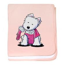 Westie Material Girl Infant Blanket