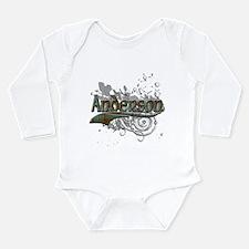 Anderson Tartan Grunge Long Sleeve Infant Bodysuit
