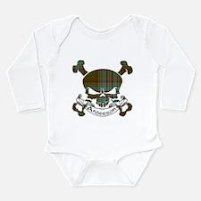Anderson Tartan Skull Long Sleeve Infant Bodysuit