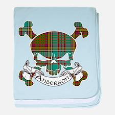 Anderson Tartan Skull baby blanket