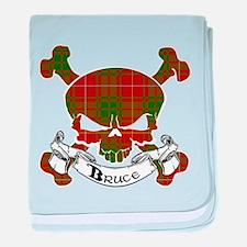 Bruce Tartan Skull baby blanket