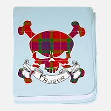 Fraser Tartan Skull baby blanket