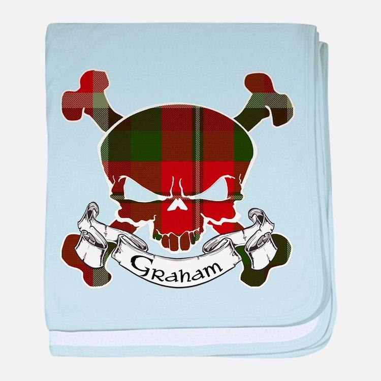 Graham Tartan Skull baby blanket