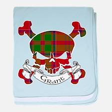 Grant Tartan Skull baby blanket