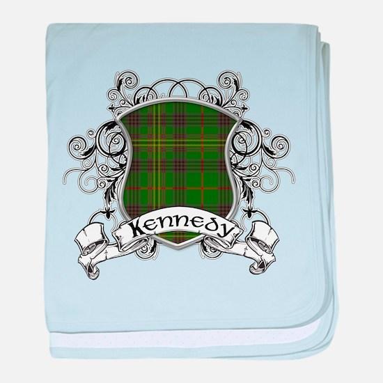 Kennedy Tartan Shield baby blanket