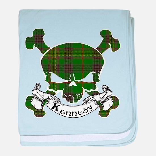 Kennedy Tartan Skull baby blanket