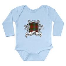 Kidd Tartan Shield Long Sleeve Infant Bodysuit