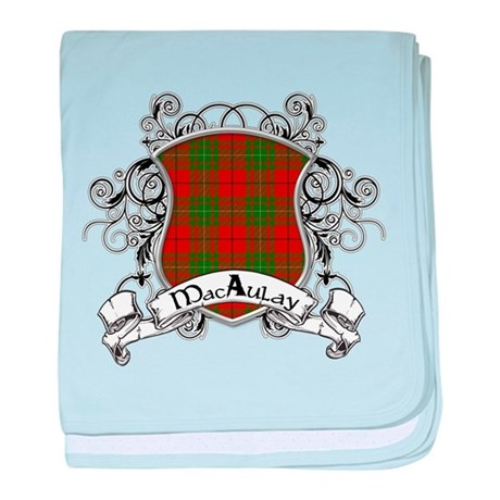 MacAulay Tartan Shield baby blanket
