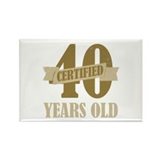 Certified 40 Years Old Rectangle Magnet