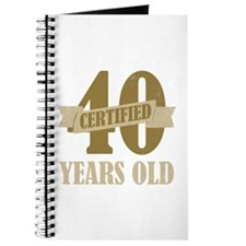 Certified 40 Years Old Journal