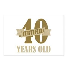 Certified 40 Years Old Postcards (Package of 8)