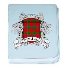 Sinclair Tartan Shield baby blanket