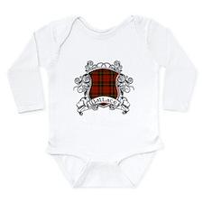 Wallace Tartan Shield Long Sleeve Infant Bodysuit