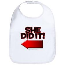 She did it Bib