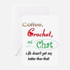 Coffee, Crochet & Chat Greeting Card