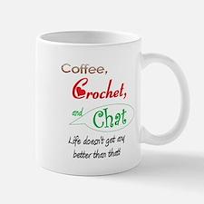 Coffee, Crochet & Chat Mug