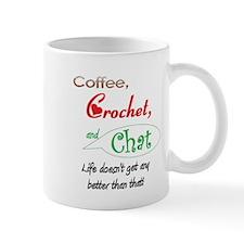 Coffee, Crochet & Chat Small Mug