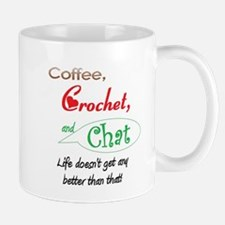 Coffee, Crochet & Chat Small Small Mug
