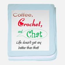 Coffee, Crochet & Chat Infant Blanket