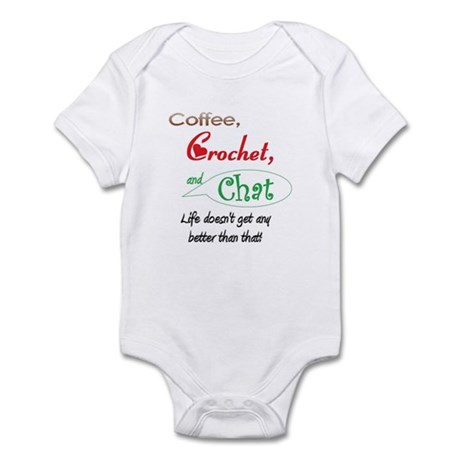 Coffee, Crochet & Chat Infant Bodysuit