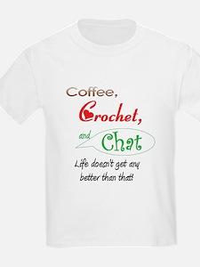 Coffee, Crochet & Chat T-Shirt