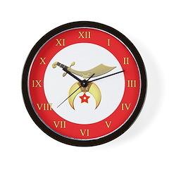 Shriners Roman Wall Clock
