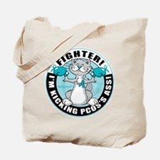 PCOS Cat Fighter Tote Bag