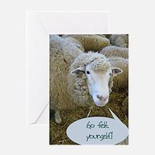 Go Felt Yourself Greeting Card