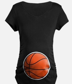 Funny Basketball Belly Print Maternity T-shirt